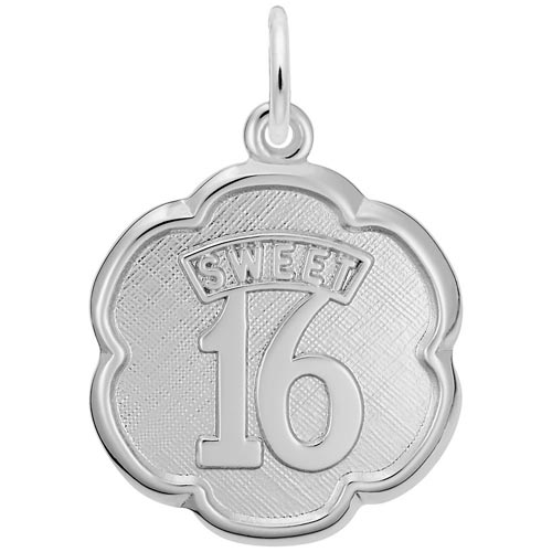 Sterling Silver Sweet Sixteen Scalloped Disc by Rembrandt Charms