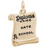 10k Gold Graduation Diploma Charm by Rembrandt Charms