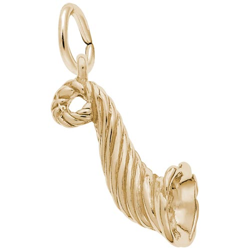 10K Gold Horn of Plenty Charm by Rembrandt Charms