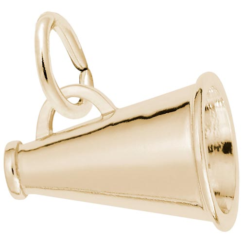 10K Gold Megaphone Charm by Rembrandt Charms