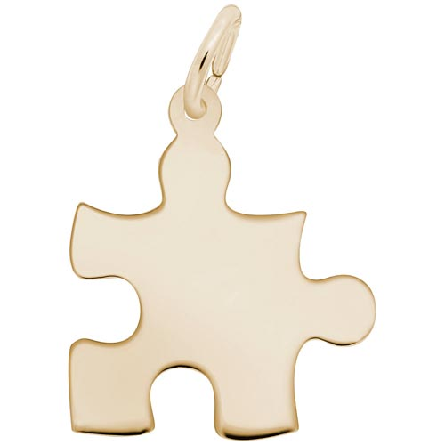 10k Gold Autism Puzzle Piece Charm by Rembrandt Charms
