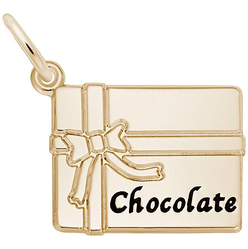Gold Plate Box of Chocolate Charm by Rembrandt Charms