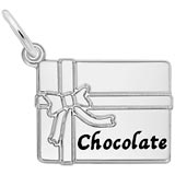 14K White Gold Box of Chocolate Charm by Rembrandt Charms