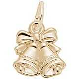 14K Gold Bells Charm by Rembrandt Charms