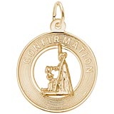 Gold Plated Confirmation Charm by Rembrandt Charms