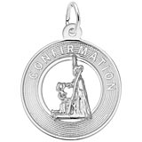 14K White Gold Confirmation Girl Charm by Rembrandt Charms