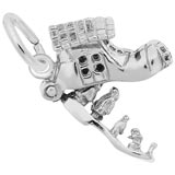 14K White Gold Old Woman in a Shoe Charm by Rembrandt Charms