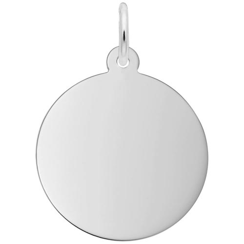 14K White Gold Disc, Medium 35 Series Charm