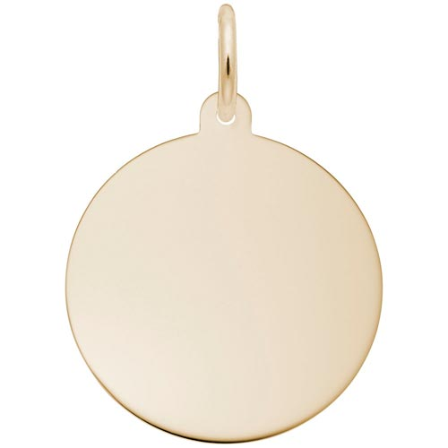 14K Gold LG-Round Disc Charm Series 35 by Rembrandt Charms