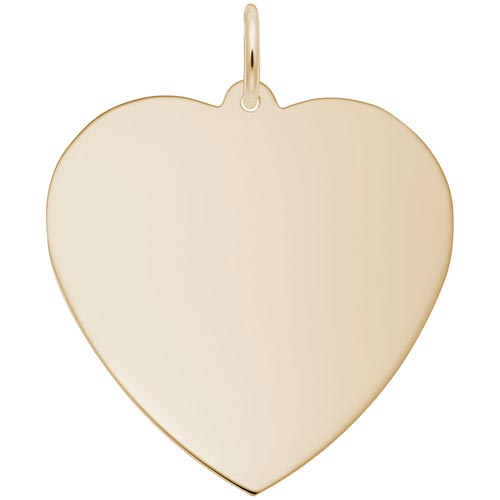 14K Gold XL-Classic Heart Charm by Rembrandt Charms