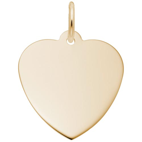 14K Gold Classic Heart Charm by Rembrandt Charms