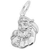 14K White Gold Santa Charm by Rembrandt Charms