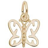 14K Gold Butterfly Charm by Rembrandt Charms
