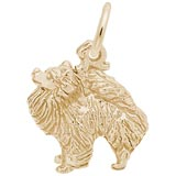 14K Gold Pomeranian Dog Charm by Rembrandt Charms