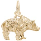 Gold Plated Grizzly Bear Charm by Rembrandt Charms