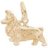 Gold Plate Pembroke Dog Charm by Rembrandt Charms