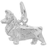 14K White Gold Pembroke Dog Charm by Rembrandt Charms