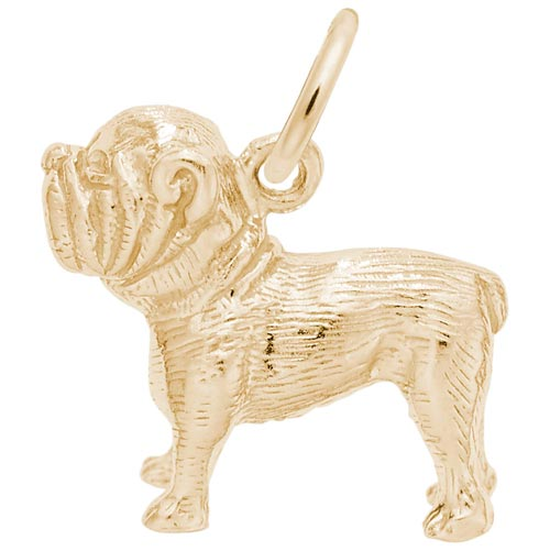 14K Gold Bulldog Charm by Rembrandt Charms