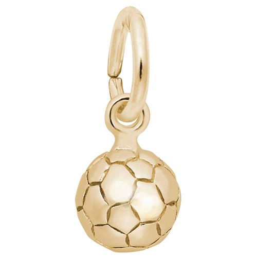 14K Gold Soccer Ball Accent Charm by Rembrandt Charms