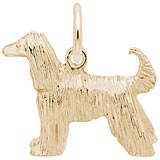 14K Gold Afghan Dog Charm by Rembrandt Charms
