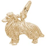 14K Gold Collie Charm by Rembrandt Charms