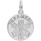 14k White Gold Paramedic Charm by Rembrandt Charms