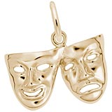 14k Gold Comedy and Tragedy Mask Charm by Rembrandt Charms