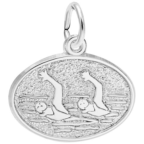 14K White Gold Synchronized Swimming Charm by Rembrandt Charms