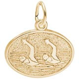 Gold Plate Synchronized Swimming Charm by Rembrandt Charms