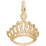 Gold Plated Tiara Charm by Rembrandt Charms
