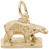 Gold Plated Polar Bear Charm by Rembrandt Charms