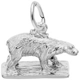 14k White Gold Polar Bear Charm by Rembrandt Charms