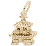 Gold Plated Oriental Temple Charm by Rembrandt Charms