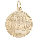 Gold Plated Happy Anniversary Disc Charm