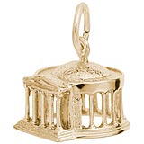 Gold Plated Jefferson Memorial Charm by Rembrandt Charms