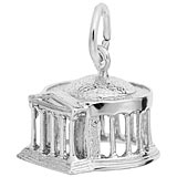 14K White Gold Jefferson Memorial Charm by Rembrandt Charms
