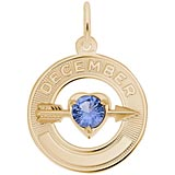 Gold Plated 12 Dec Month of Love Charm by Rembrandt Charms