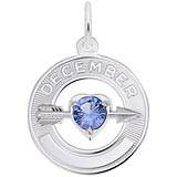 14k White Gold 12 Dec Month of Love Charm by Rembrandt Charms