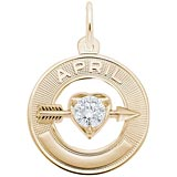 10k Gold 04 Apr Month of Love Charm by Rembrandt Charms