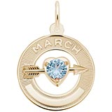 14k Gold 03 Mar Month of Love Charm by Rembrandt Charms