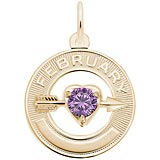 10k Gold 02 Feb Month of Love Charm by Rembrandt Charms