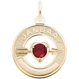 10k Gold 01 Jan Month of Love Charm by Rembrandt Charms
