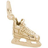 14k Gold Ice Hockey Skate Charm by Rembrandt Charms