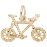 Gold Plated Mountain Bike Charm by Rembrandt Charms