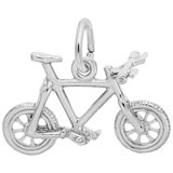 Sterling Silver Mountain Bike Charm by Rembrandt Charms