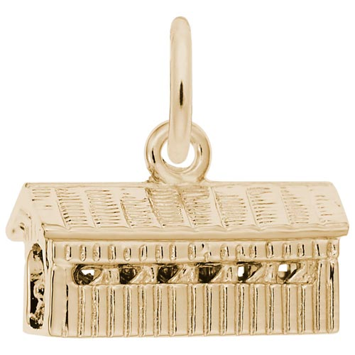 Gold Plate Covered Bridge Charm by Rembrandt Charms