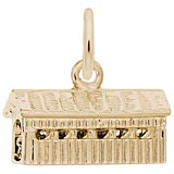 14K Yellow Covered Bridge Charm by Rembrandt Charms