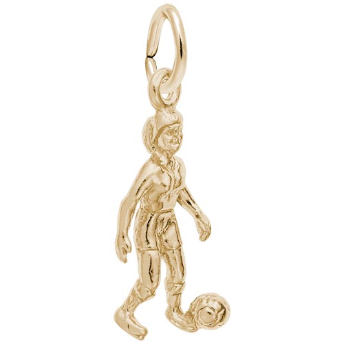 14K Gold Soccer Player Charm by Rembrandt Charms