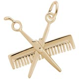 10K Gold Comb And Scissors Charm by Rembrandt Charms