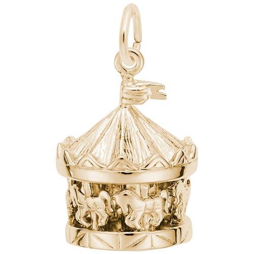 Rembrandt Carousel Charm, 14K Gold